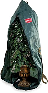 [Upright Foyer Tree Storage Bag] - 6 Foot Christmas Tree Storage Bag for Topiary Style Artificial Trees up to 6 Feet Tall - Keep Your Fake Tree Standing and Assembled with Ornaments