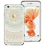 ESR Case Compatible for iPhone 6/6s, Pattern Design Slim Clear Case with Soft TPU Bumper+Hard PC Back Cover for 4.7' iPhone 6 / iPhone 6s_Mint Mandala