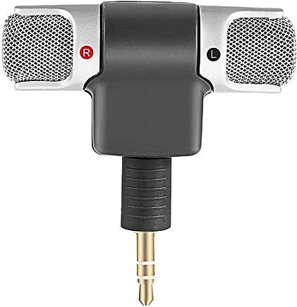 Nihlsen Mini Microfono Stereo Digitale Mini Microfono da 3,5 mm Mini Jack per PC Notebook Portatile Registrazione Stereo Canale Destro e Sinistro - Nero - Trova i prezzi più bassi