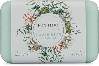 Mistral Triple Milled Bar Soap Organic Olive Oil and Shea Butter - South Seas - Made in France, 7 oz