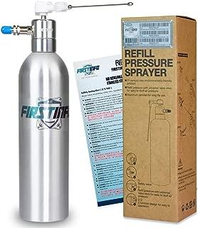 FIRSTINFO Aluminum Can Pneumatic/Manual Refillable Fluid/Oil Pressure Storage Sprayer + Jet Dual Purpose Nozzle Kit (Standard)
