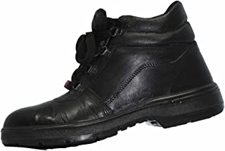 Aktion Safety Genuine Leather Shoes SA-1101 - Size 6, Black