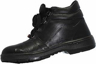 Aktion Safety Genuine Leather Shoes SA-1101 - Size 9, Black