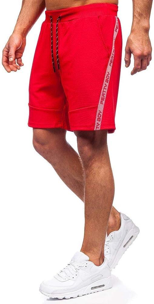 Bolf pantaloni sportivi corti da uomo con stampa,bermuda elasticizzati ,100% poliestere J.STYLE KS2601
