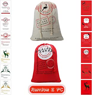 Christmas Bag Santa Sack Canvas Bag For Gifts Santa Sack Special Delivery Extra Large Size 27.5