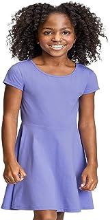 فستان للفتيات قصير الأكمام مطوي من ذا كيدز بليس