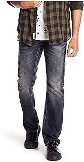 True Religion Men's Straight Flap Earthworm Jeans