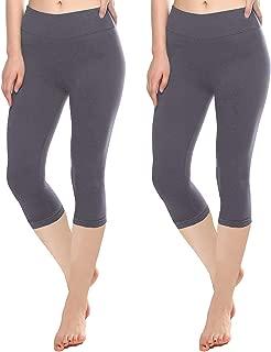 KT Buttery Soft Capri Leggings for Women - High Waisted Capri Pants with Pockets - Reg & Plus Size - 10+ Colors