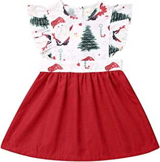 Kids Baby Girls Christmas Sister Matching Clothes Romper Lace Dress Outfits