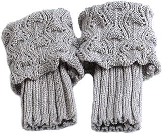 MoreChioce, 1 Pares Moda Mujer Calentadores de Piernas,Calientes del Invierno,Calcetines Crochet Calcetines