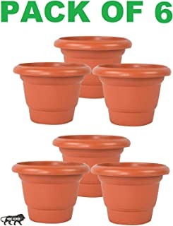 JRM's Pot for Garden and Balcony Flowering (Pack of 6, Big)