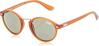 Superdry Unisex Sunglasses Crescendo Brown - rubberised amber/vintage green - SDCRESCENDO-103 - size 48-22-145mm