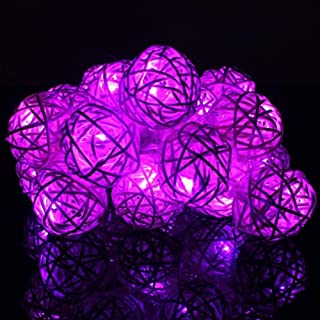 Latosiv - Artificial Dried Flowers - 2m 20led Romantic Fancy Hand Made Sepak Takraw Ball String Christmas Easter Halloween Birthday - Dried Artificial Flowers Artificial Dried Flowers Dress Halloween