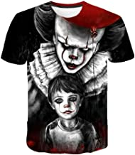 Stephen King's It Clown Horror Movie T-Shirt Men's Tee Top S - 5XL