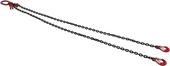 Hijsketting, 2 haken verstelbaar voor kraanwerkzaamheden 2 meter 4,75 ton 8 mm
