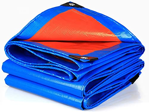 Qjifangfsh Bache, épaissir Multifonction Plusieurs Tailles, Prougeection Solaire étanche à la Pluie extérieure, Bleu + Orange (Taille   3m6m)
