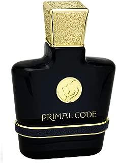 PRIMAL CODE, Eau de Perfume 100mL | Aromatic Fougere Fragrance for Men | Herbal, Mint, Cardamom, Violet, Pink Pepper, Lavender, Sage and Cinnamon | Parfum by Swiss Arabian Oud | Intense Cologne Spray