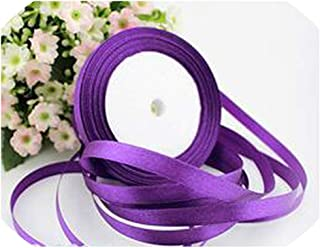 22M Long Pink Silk Satin Ribbon 10mm Wide Party Home Wedding Decoration Gift Wrapping Christmas Year DIY Material Supplies,Purple,10mm