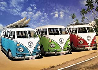 VW Campers Photo Art Print Giant Poster 55x39