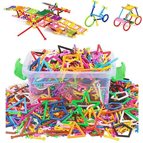 Qchomee 300/400 stücke Magnetische Bausteine Steckbausteine Spielzeug Pädagogisches Spielzeug kreative Montage Puzzle mit Aufbewahrungsbox als Geschenk für Kind Alter 3 +