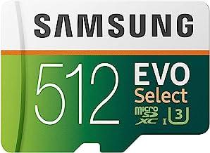 SAMSUNG EVO Select 512GB microSDXC UHS-I U3 100MB/s Full...