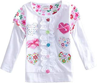 Kid Girl Cotton Lace Long Sleeve T Shirt Clothes 2-6 Years