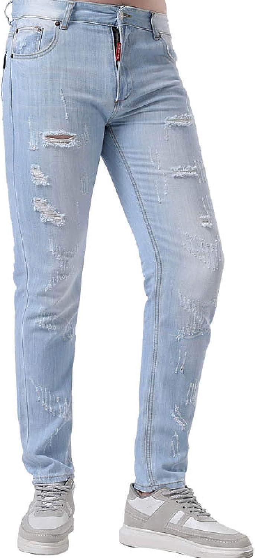 Generico Men's Regular Straight Fit Design Comfortable Denim Jeans Spring and Summer
