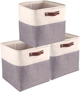 Mangata Boîte de Rangement pour Jouets Pliable, Cube de Rangement en Tissu (33 × 33 × 33 cm) pour Jouets, Livres, Puzzles,...