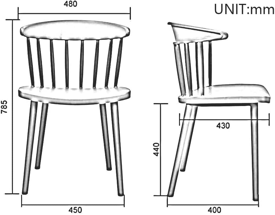 Dall Chaise De Salle À Manger Loisirs Nordiques Chaise De Table en Plastique Chaise De Café Minimaliste Moderne Durable Chaise De Réception (Color : Pink) Black