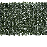 """Eden's Decor 120""""X40"""" 1 Pack Faux Ivy Leaf Privacy Trellis Fence Screen Artificial Hedge for Outdoor/Indoor Decoration"""