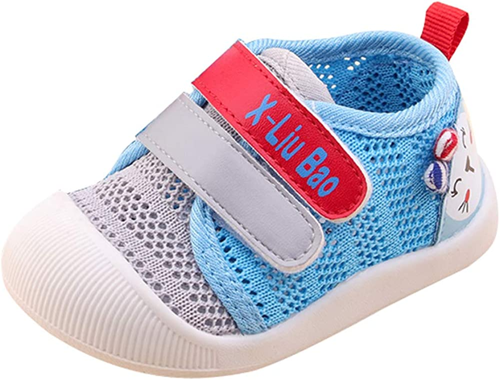 QGAKAGO Baby Girls Breathable Mesh Upper Rubber Sole Non-Slip Running Sneakers Toddler Shoes 6-30 Months