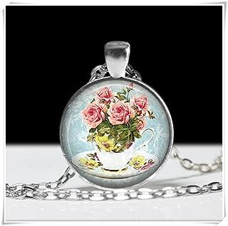 Tea Cup Necklace Tea Cup Necklace Gift for Tea Drinker Tea Cup