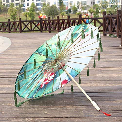 JLWS Paraguas de Encaje de Tela, Accesorios de fotografía para Disfraz de...