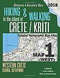 Hiking & Walking in the Island of Crete/Kriti Map 1 (West) Detailed Topographic Map Atlas 1:50000 Western Crete Chania, Rethymno Greece Aegean Sea: ... Map (Hopping Greek Islands Travel Guide Maps)