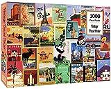 Enphiblue Puzzle 1000 piezas para adultos – Vintage Travel Poster Jigsaw Puzzle Juguete para regalo educativo para adolescentes y niños