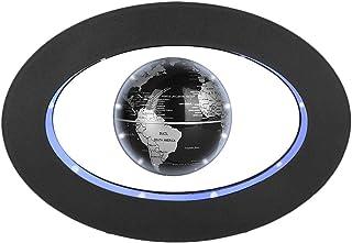 Globo Flotante de levitación magnética gira del mapa del mundo utilizar como decoración del escritorio del hogar o de oficina, un gran regalo que sorprenderá a su familias y amigos (Óvalo negro)