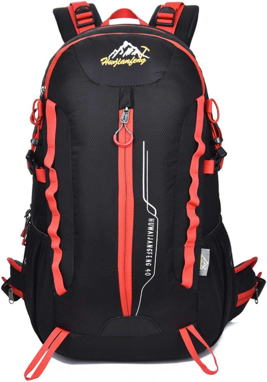 DUYANGANG Outdoor Reisen Bergsteigen Tasche Wasserdicht Nylon Schulter Tasche Sport Rucksack,schwarz-OneGröße