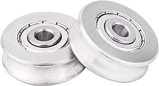 Zip Line Replacement Stainless Steel Deep U Groove Ball Bearings Pack of 2