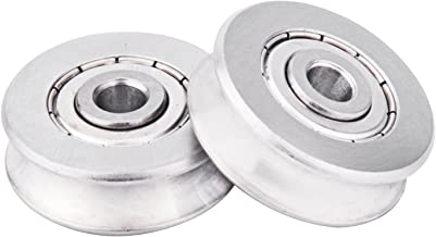 Zip Line Replacement Stainless Steel Deep U Groove Ball Bearings Pack of 2
