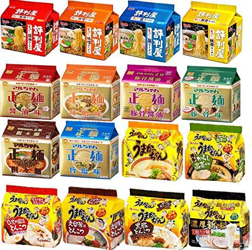 インスタントラーメン 6種30食 詰め合わせセット (評判屋2種 うまかっちゃん1種 マルちゃん製麺3種)
