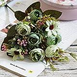 Fleur Artificielle Haute Qualité Fleurs Artificielles Pivoine Fleurs De Soie Vives Marguerites Faux Fleur Décoration Mariage Maison Hôtel Bureau Vert