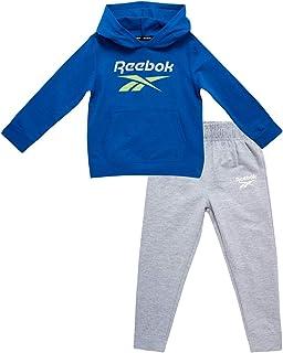 Reebok Chándal para niño – Sudadera atlética de forro polar con pantalones deportivos (niños pequeños/niños grandes)