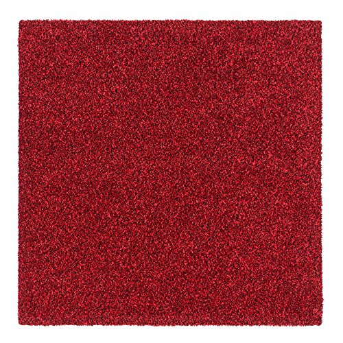 Teppichfliesen Intrigo 50x50cm selbstliegend Bodenbeläge Velours, Farben:Rot