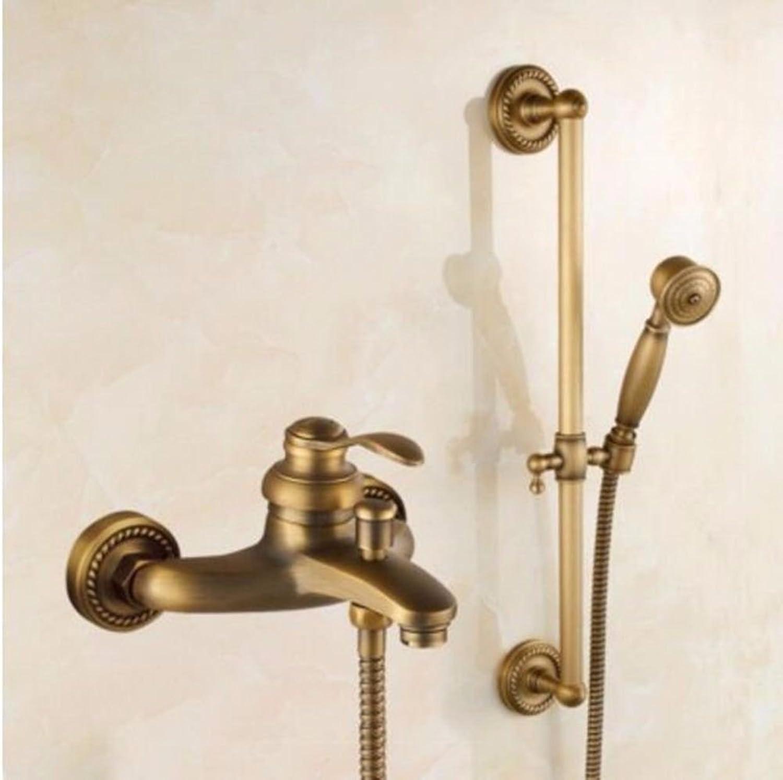 NewBorn Faucet Küche oder Badezimmer Waschbecken Mischbatterie Alle Kupfer antik Einfache Dusche Dusche und Kaltes Wasser Wasser Slim Dusche B Tippen