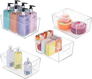 mDesign Pudełko z szufladami – zestaw 4 szt. – pudełko do przechowywania produktów zdrowotnych i urody – idealny kosz na ś...