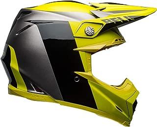 Bell Moto-9 Flex Off-Road Motorcycle Helmet (Division Matte/Gloss Black/Hi-Viz/Gray,  Small)
