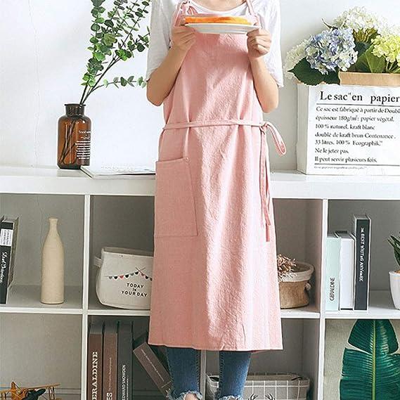 Women linen apron vegan girl gift organic hemp clothing pink full apron kitchen funny apron custom cooking apron eco friendly fabric decor