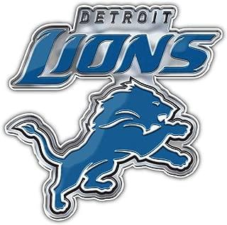 Detroit Lions NFL Silver Logo Car Bumper Sticker Decal 5'' X 5''