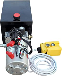 Single Acting Hydraulic Pump Metal Reservoir Electric Hydraulic Pump Unit for Dump Trailer (Single Acting 8L)