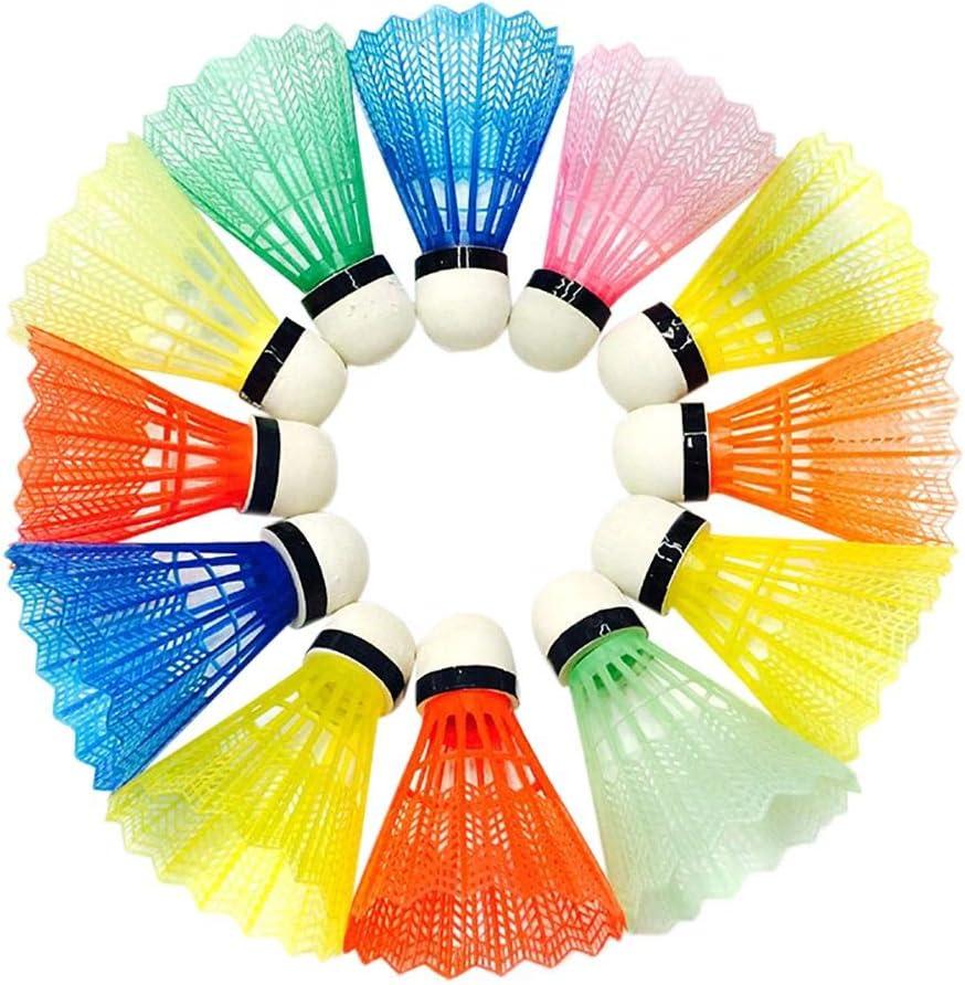 Max 62% OFF 12Pcs Badminton shuttlecocks Nylon Pl Feather Training Japan's largest assortment